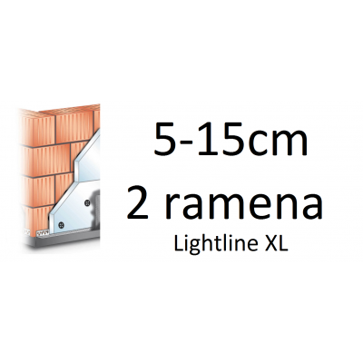 Kotvící sada pro stříšky LIGHTLINE XL do zateplené fasády