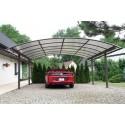 Přístřešek obloukový STEEL D pro 2 auta – polykarbonát