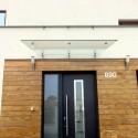 Maxi skleněná stříška s táhly nad vchodové dveře
