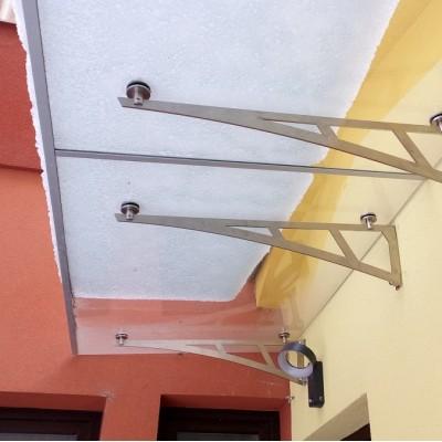Skleněná markýza 320x100cm nerez ramena spojovaná