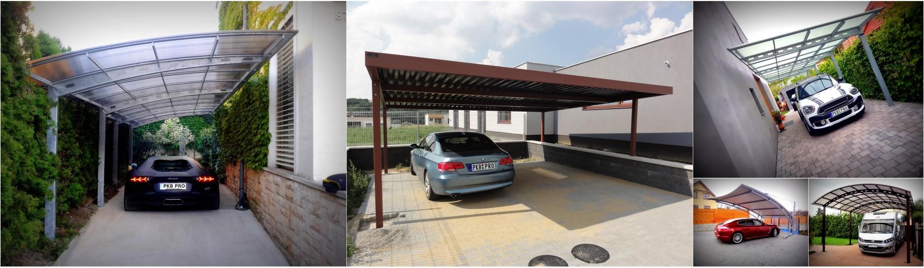 Ocelové i hliníkové přístřešky pro auto, dokonala ochrana vašeho vozu.